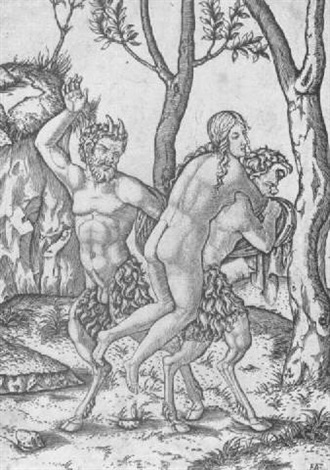 Two Satyrs punishing a Nymph