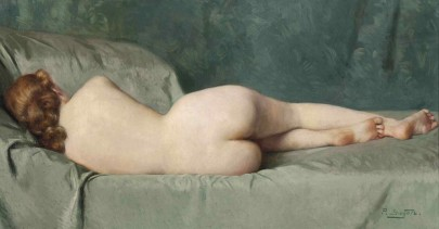 Reclining nude by Paul Sieffert